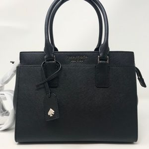 Kate Spade cameron medium satchel bag black